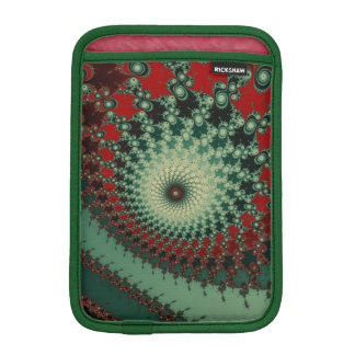 Hot Peppery Spicy Fractal - green and red Sleeve For iPad Mini