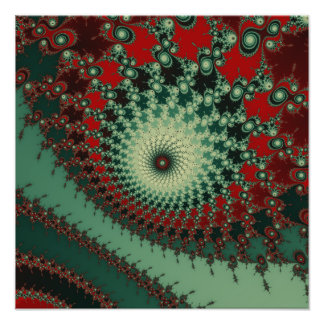 Hot Peppery Spicy Fractal - green and red Photograph