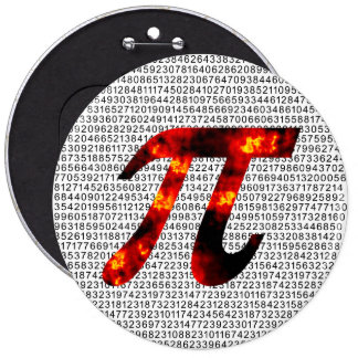 Hot Pi Pinback Button