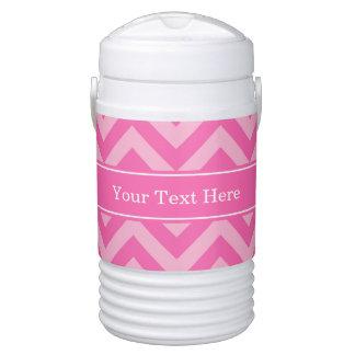 Hot Pink #2 Cotton Candy LG Chevron Name Monogram Beverage Cooler