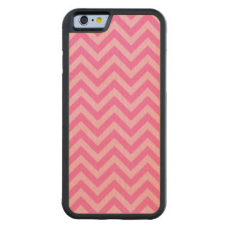Hot Pink 2, Cotton Candy LG Chevron ZigZag Pattern Carved Maple iPhone 6 Bumper Case