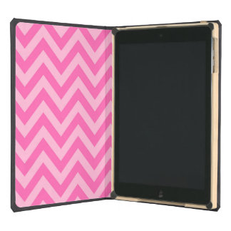 Hot Pink 2, Cotton Candy LG Chevron ZigZag Pattern iPad Air Covers