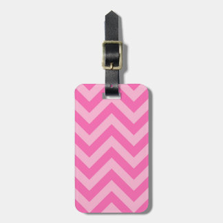 Hot Pink 2 Cotton Candy LG Chevron ZigZag Pattern Tag For Luggage