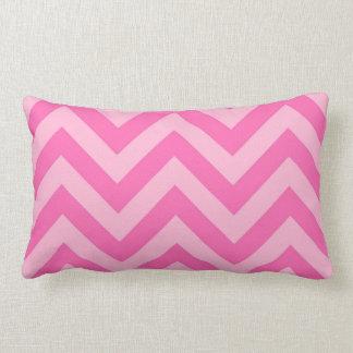 Hot Pink 2, Cotton Candy LG Chevron ZigZag Pattern Pillow