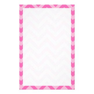 Hot Pink 2, Cotton Candy LG Chevron ZigZag Pattern Stationery