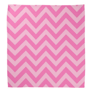 Hot Pink 2 Cotton Candy LG Chevron ZigZag Pattern Kerchiefs