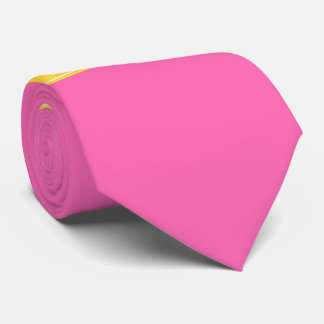 Hot Pink #2, Pineapple Ribbon Name Monogram Neck Tie