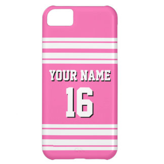 Hot Pink #2 White Team Jersey Custom Number Name Case For iPhone 5C