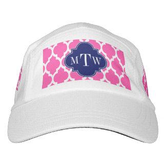 Hot Pink #2 Wht Moroccan #4 Navy Name Monogram Headsweats Hat