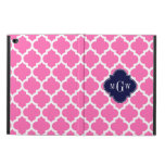 Hot Pink#2 Wht Moroccan #5 Navy 3 Initial Monogram Powis iPad Air 2 Case