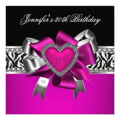Hot Pink And Black Zebra Birthday Decorations Image Inspiration of
