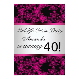 Hot Pink 40th Birthday Party Invitation