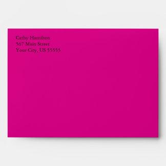 Hot Pink A7 5x7 Custom Pre-addressed Envelopes