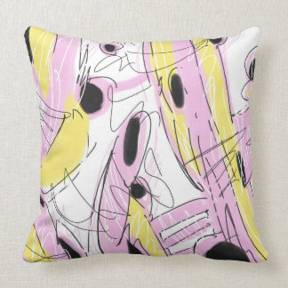 Hot Pink Abstract 001 Throw Pillow