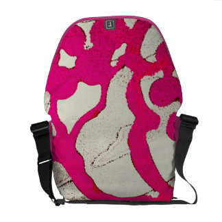 Hot Pink Abstract Art Tree or Vine Artsy Messenger Courier Bag