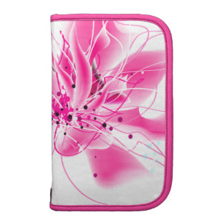 Hot Pink Abstract Flower Planners