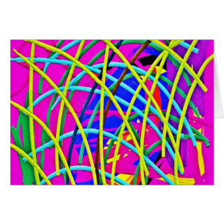Hot Pink Abstract Girly Doodle Design Novelty Gift Card