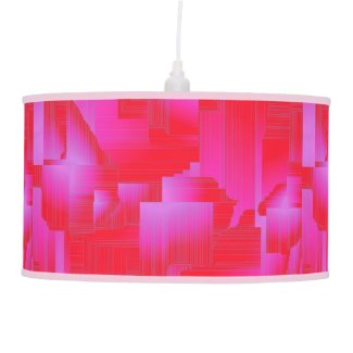 Hot Pink Abstract Hanging Pendant Lamps
