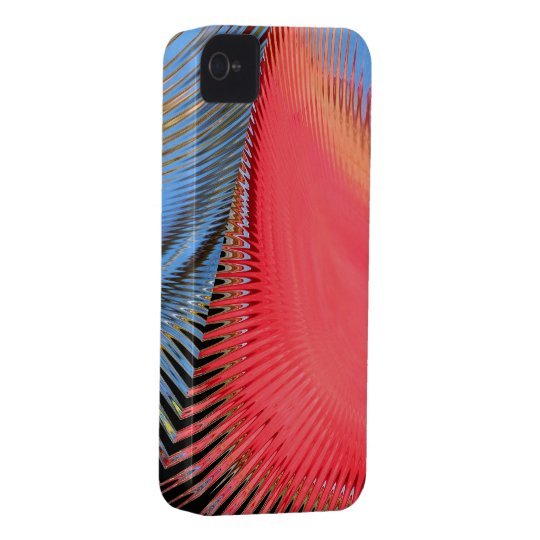 Hot Pink Abstract ~ iPhone 4 CaseMate Barely There iPhone 4 Cover