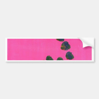 Hot Pink Abstract Painting Car Bumper Sticker