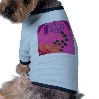 Hot Pink Abstract Painting Pet T Shirt
