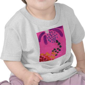 Hot Pink Abstract Painting T Shirts
