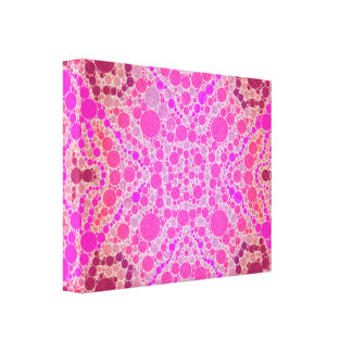 Hot Pink Abstract Pattern Canvas Print