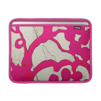 Hot Pink Abstract Tree or Vine Custom iPad Sleeve