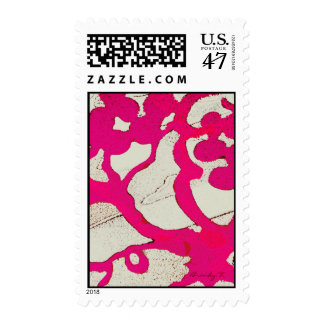 Hot Pink Abstract Tree or Vine Postage
