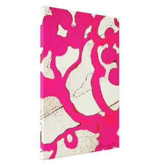 Hot Pink Abstract Vine or Tree on Wrapped Canvas