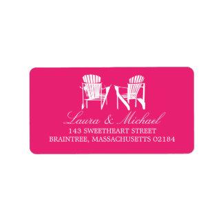 Hot Pink Adirondack Chairs | Address Label