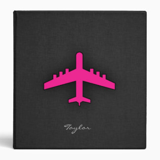Hot Pink Airplane Binder