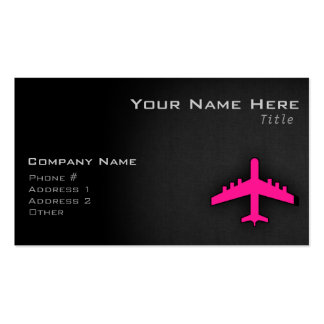 Hot Pink Airplane Business Card