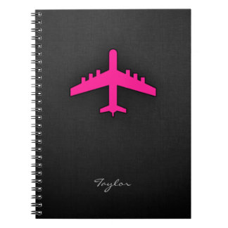 Hot Pink Airplane Notebook