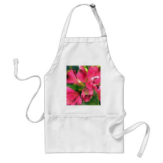 Hot Pink Alstroemeria Flowers Lilies Flower Photo Adult Apron