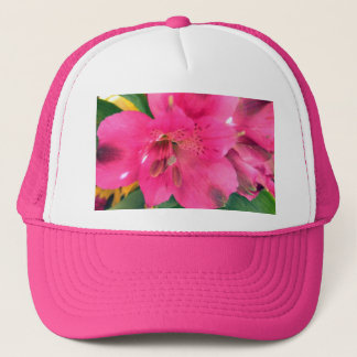 Hot Pink Alstroemeria Flowers Lilies Flower Photo Trucker Hat