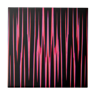 HOT PINK (an abstract art design) ~ Ceramic Tile