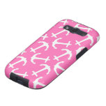 Hot Pink  Anchors Galore Samsung Galaxy SIII Cases