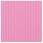 [ Thumbnail: Hot Pink and Beige Lines/Stripes Pattern Fabric ]