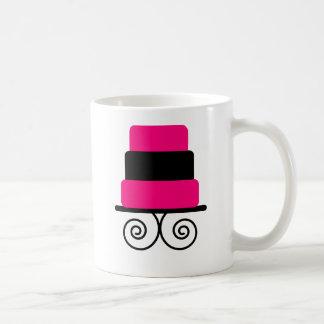 Hot Pink and Black 3 Tier Cake Classic White Coffee Mug