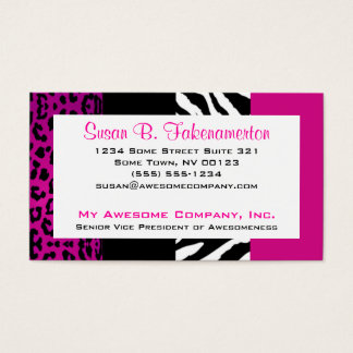 Animal Print Business Cards & Templates | Zazzle