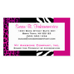 Hot Pink and Black Animal Print Zebra and Leopard Double-Sided Standard Business Cards (Pack Of 100)