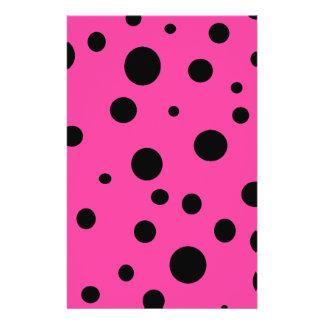 Hot Pink and Black Bubbles Polka Dots Fun Flyer