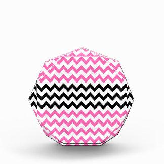 Hot Pink And Black Chevron Acrylic Award