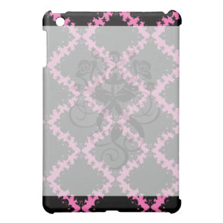 hot pink and black diamond mod damask cover for the iPad mini