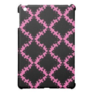 hot pink and black diamond mod damask iPad mini covers