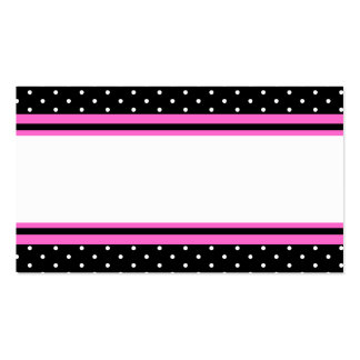 Hot Pink and Black Dinner Party Name Place Cards Business Card