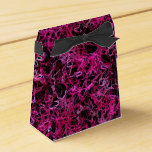 Hot Pink and Black Electric Lines 5078 Favor Box