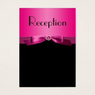 Hot Pink and Black Enclosure Card