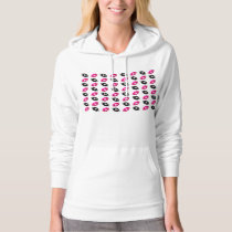 Hot Pink and Black Football Pattern Hoodie